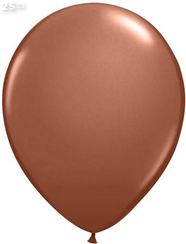 Ballonnen Metallic Koper 35cm - 25 stuks