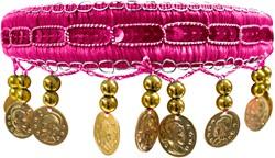 Haarband Zigeunerin Luxe Pink
