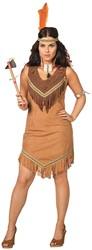 Dameskostuum Sexy Indiaanse Beige