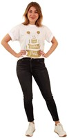 Toppers T-Shirt Happy Birthday Party Wit (voorbeeld)
