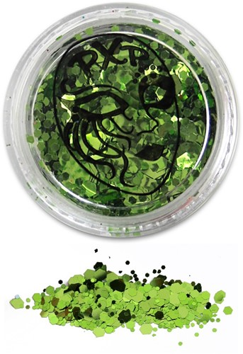 PXP Glitters Grof Lime Groen (Tropical Green) 5gr.