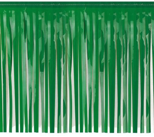 Brandvertragende Slinger met Franjes Groen 6mx30cm (PVC)