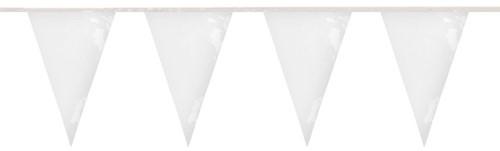 Brandvertragende Vlaggenlijn Wit 10m (PVC)