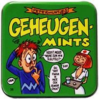 Pocket Tin Geheugen Mints