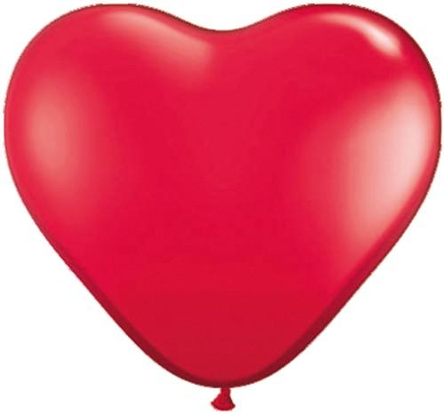 Hartballonnen Rood 38 cm 100 stuks