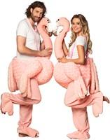 Piggyback Kostuum Flamingo Luxe (3)