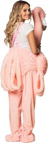 Piggyback Kostuum Flamingo Luxe (achterkant)