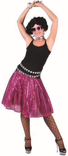 Disco Rokje Pailletten Pink