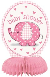 Decoratie Honeycomb Baby Shower Roze - Meisje 4st.