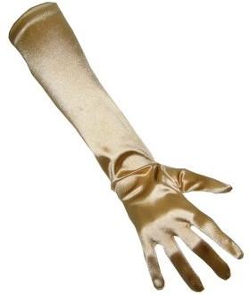 Handschoenen Satijn Goud 48cm