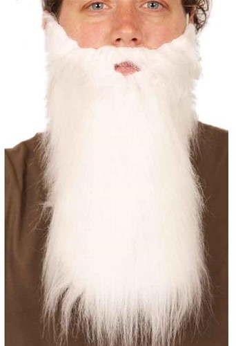 Baard lang met snor Wit