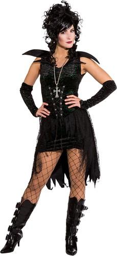 Damesjurkje Black Gothic met Glitters
