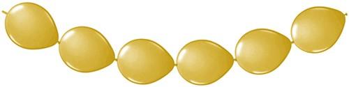 Doorknoopballonnen 8st. Goud