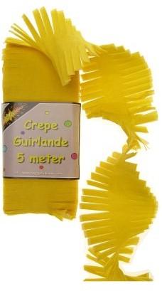Crepe Guirlande Geel 5mtr