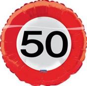 Folieballon 50 jaar Verkeersbord