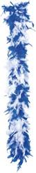 Boa blauw met wit luxe 1.80 meter lang