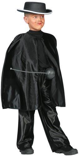 Zorro Cape Zwart voor kinderen