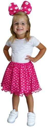 Kindersetje Minnie Pink (rokje+diadeem)