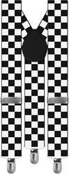 Bretels Zwart/Wit Geblokt