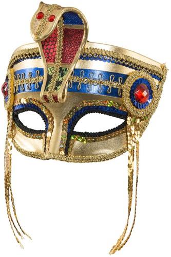 Domino / Oogmasker Egyptische Farao Luxe