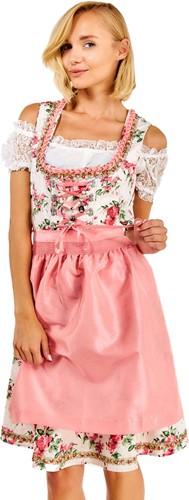 Dirndl Lotta Bloemen Roze Luxe 3dlg.
