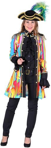 Carnavalsjas Colour Pearl Rainbow voor dames