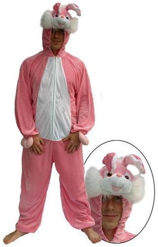 Pluche Konijnen Kostuum Roze