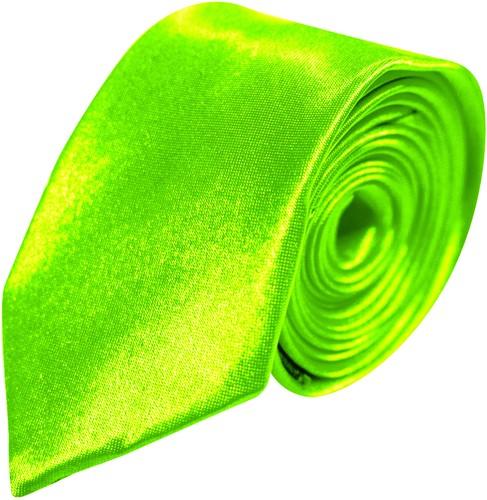 Stropdas Satijn Lang Neon Groen