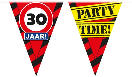 Vlaggenlijn Party 30 Jaar Verkeersbord