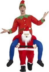 Piggyback Kostuum Santa Claus