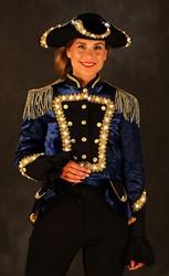 Damesjas Minerva Blauw met LED-verlichting