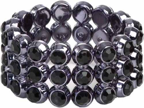Armband Bling Kleine Diamanten Zwart