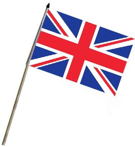 Vlag op stok Engeland 46x30cm