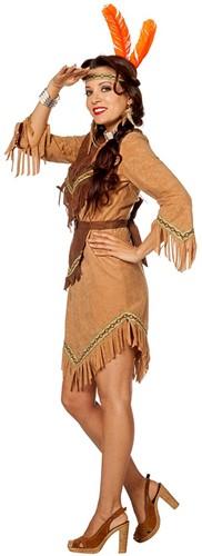Indiaanse Dame Luxe Beige  -2