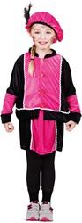 Kostuum Zwarte Piet Roze-Zwart voor meisjes