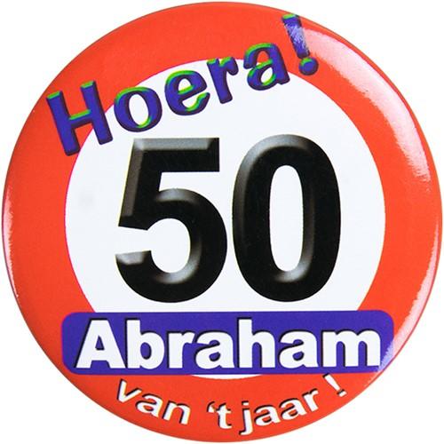 Button Hoera! 50 Abraham van het jaar!