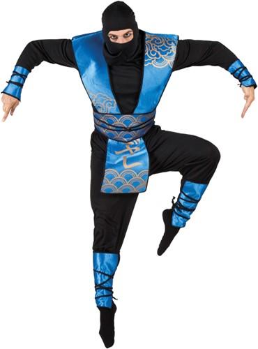 Herenkostuum Ninja Blauw-Zwart