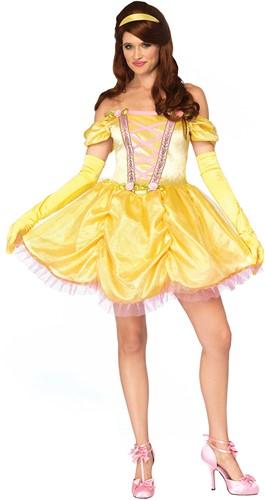 Prinsessenjurk Enchanting Princess Belle Geel