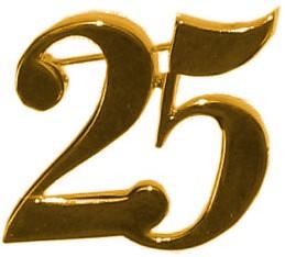 Broche 25 Goud