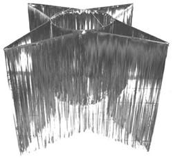 Hangdecoratie Ster-vorm Zilver (150cm)
