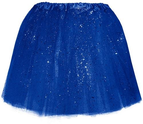 Tule Rokje Blauw met Glitter