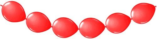 Doorknoopballonnen 8st. Rood