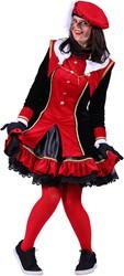 Dames Pietenpak Graciosa Rood/Zwart