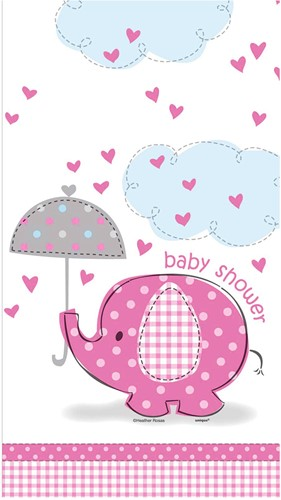 Tafelkleed Baby Shower Roze - Meisje (137x213cm)