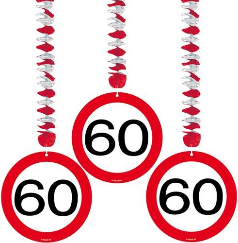 Hangdeco 60 jaar Verkeersbord