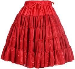 Petticoat Metallic Rood Luxe