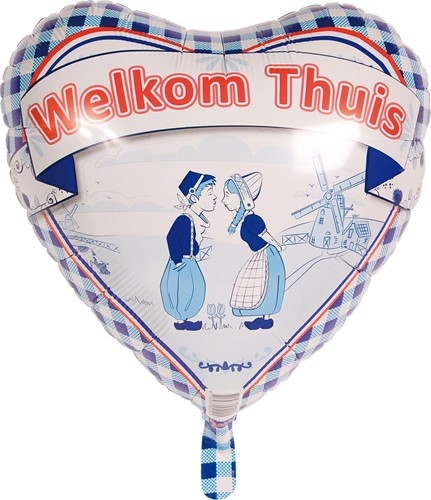 Folieballon Welkom Thuis Delftsblauw