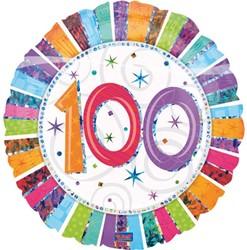 Folieballon 100th B-day Prisma