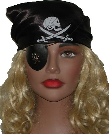 Piratenhoofddoek Kind Zwart
