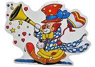 Wanddeco Clown met Toeter